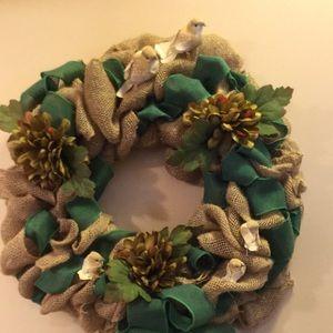 "Other - Wreath Burlap Handmade. 20x20x4"". Organic. Natural"